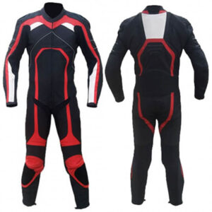 New Black&Red Motorcycle Racing Leather Suit