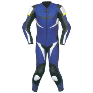 New Blue Motorcycle Sports Racing Leather Suit