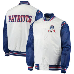 New England Patriots Historic Logo Renegade Satin Varsity Jacket