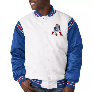 New England Patriots Historic Logo Renegade Satin Varsity Jacket
