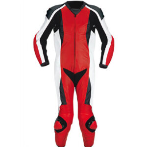 New Red and Black Motorcycle Racing Leather Suit