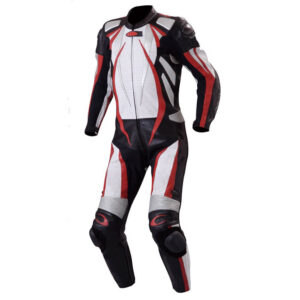 New White Motorcycle Racing Leather Suit