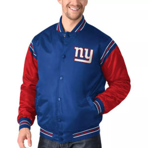 New York Giants Enforcer Satin Varsity Jacket