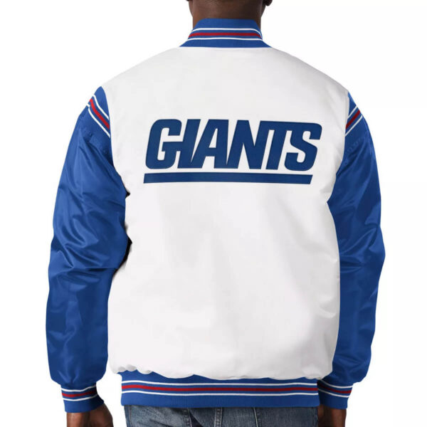 New York Giants Historic Logo Renegade Satin Jacket