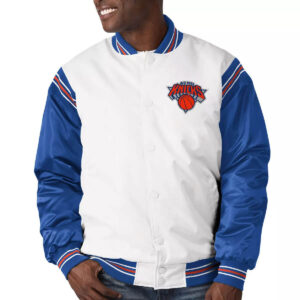 New York Knicks Renegade Varsity Satin Jacket