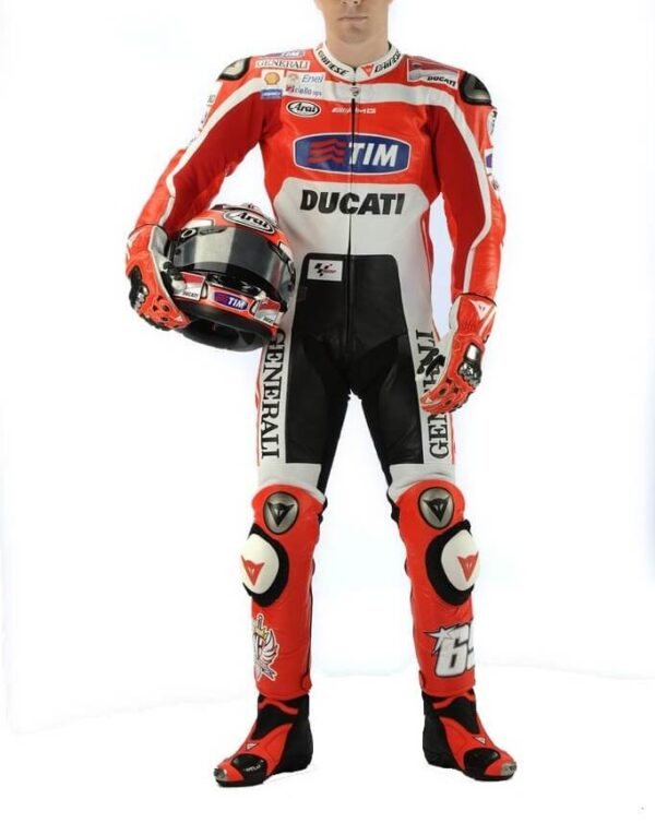 Nicky Hayden Ducati Corse MotoGP Motorcycle Leather Suit