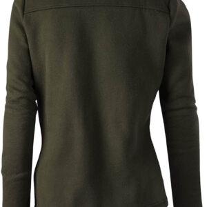 Olive Wool Tan Fur Women's Zip Up Jacket