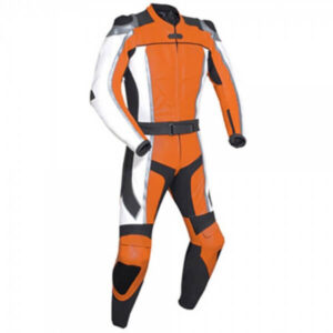 Orange Motorcycle Racing Leather Suit