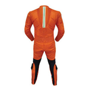 Orange Motorcycle Sports Racing Leather Suit (2)