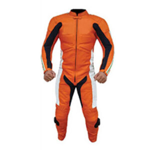 Orange Motorcycle Sports Racing Leather Suit