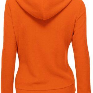 Orange Women's Zipper Long Sleeved Wool Jacket