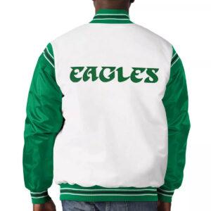 Philadelphia Eagles Historic Logo Renegade Satin Varsity Jacket