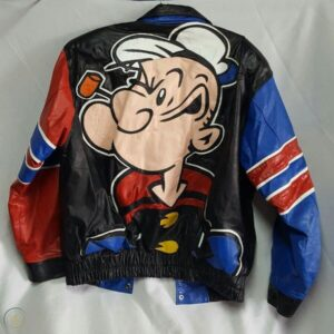 Popeye The Sailor Man Leather Jacket