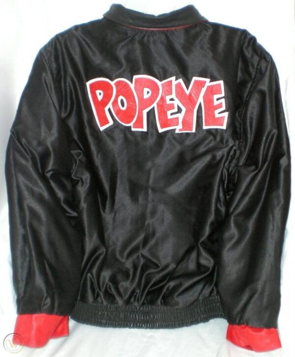 Popeye The Sailor Man Reversible Leather Jacket