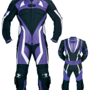 Purple Motorcycle Sports Racing Leather Suit