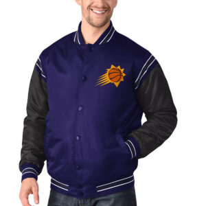 Purple&Black Phoenix Suns Varsity Satin Jacket