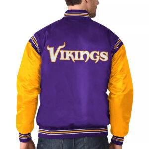 Purple&Gold Minnesota Vikings Satin Varsity Jacket