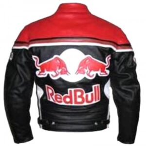 Red Bull Motorcycle Racing Leather Jacket