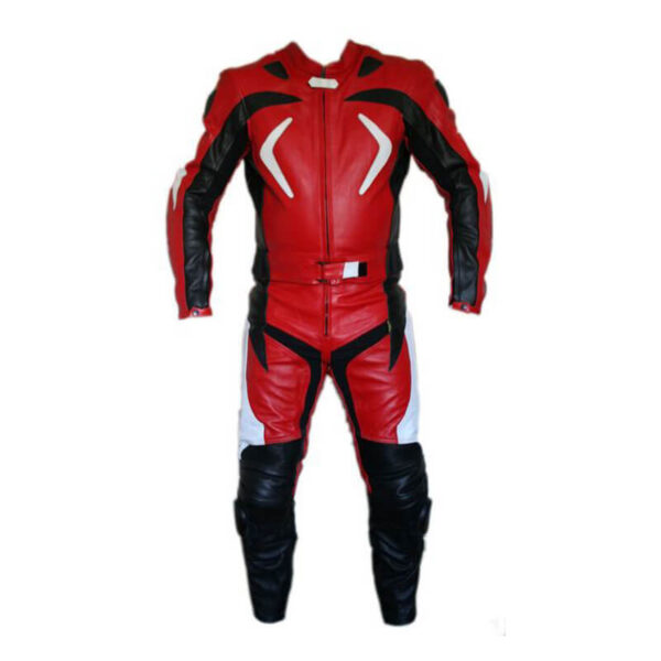 Red City Ride Motorcycle Leather Racing Suit