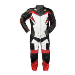 Red Madrid Motorcycle Leather Racing Suit