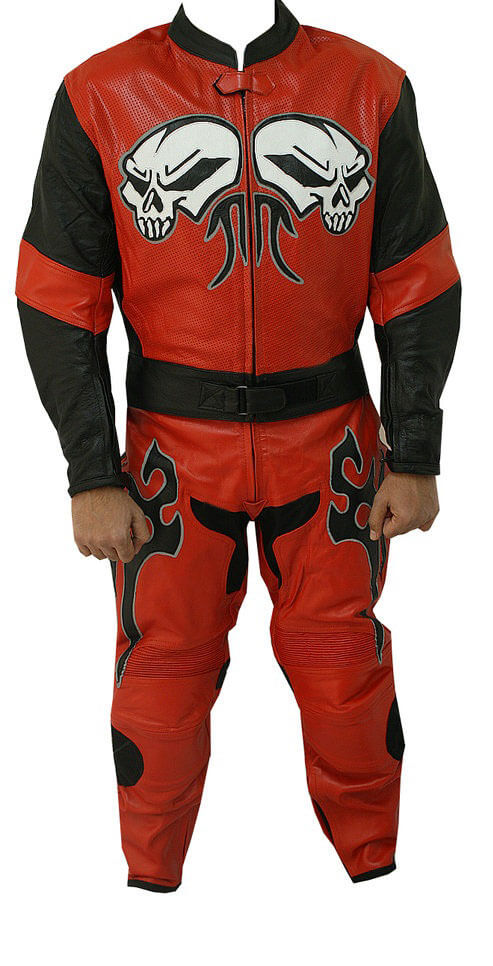Red Moon Motorcycle Racing Leather Suit