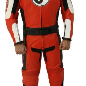 Red Motorcycle Racing Sports Leather Suit