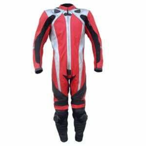 Red Motorcycle Sports Racing Leather Suit