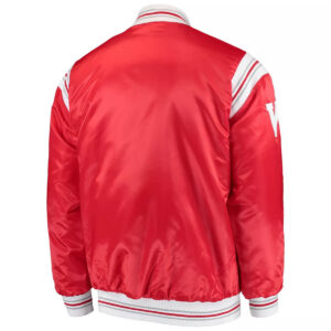 Red Wisconsin Badgers The Enforcer Satin Jacket