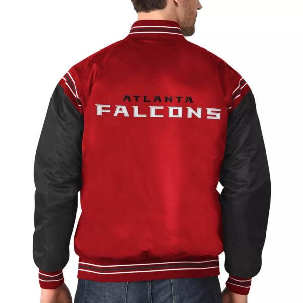 Red&Black Atlanta Falcons Satin Varsity JacketRed&Black Atlanta Falcons Satin Varsity Jacket