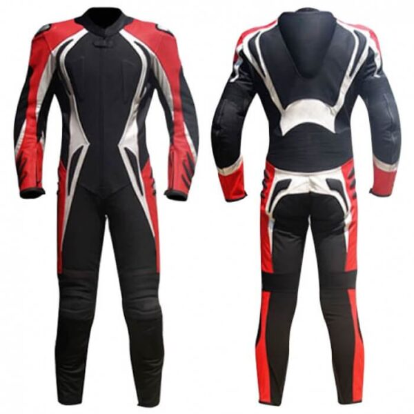 Red&Black Motorcycle Racing Leather Suit