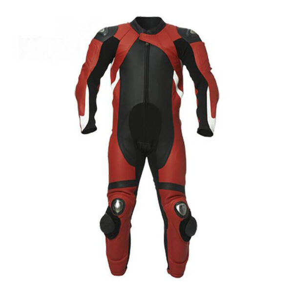 Black Tor Motorcycle Leather Racing Suit