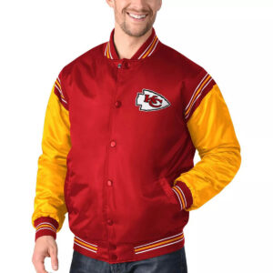 Red&Gold Kansas City Chiefs Satin Varsity Jacket
