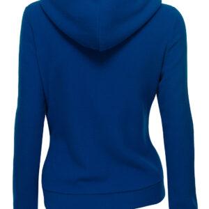 Royal Blue Women's Zipper Long Sleeved Wool Jacket