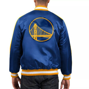 Royal Golden State Warriors The Offensive Varsity Satin Jacket Royal Golden State Warriors The Offensive Varsity Satin Jacket