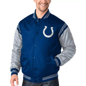 Royal&Gray Indianapolis Colts Satin Varsity Jacket