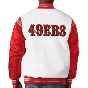 San Francisco 49ers Historic Logo Renegade Satin Varsity Jacket