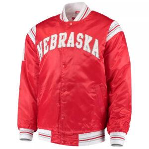 Scarlet Nebraska Cornhuskers The Enforcer Satin Jacket