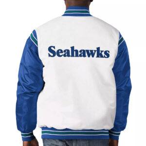 Seattle Seahawks Historic Logo Renegade Satin Varsity Jacket