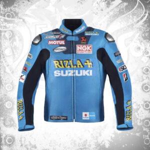 Suzuki Rizla Motorcycle Racing Leather Jacket