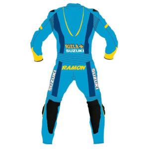 Suzuki Rizla Motorcycle Racing Sports Leather Suit