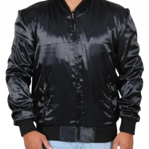 Sylvester Stallone Rocky II Black Satin Tiger Jacket