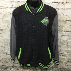 Teenage Mutant Ninja Turtles Black Varsity Jacket
