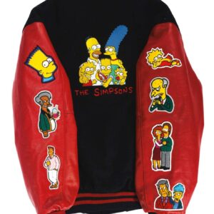 The Simpsons Varsity Wool Leather Jacket