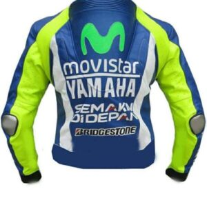 Valentino Rossi Yamaha Motorcycle Leather Jacket