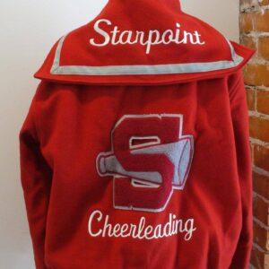 Vintage Cheerleader Leather and Wool Varsity Jacket