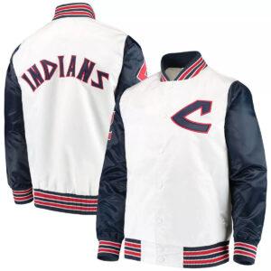 White Cleveland Indians The Legend Satin Jacket