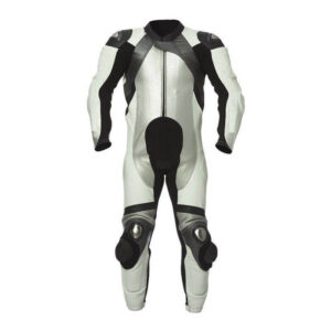 White&Black Tor Motorcycle Leather Racing Suit