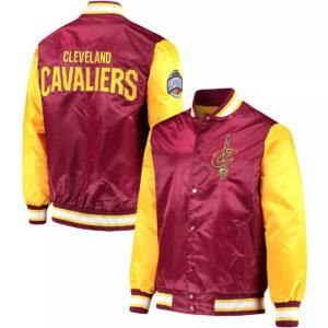 Wine&Gold Cleveland Cavaliers Satin Jacket