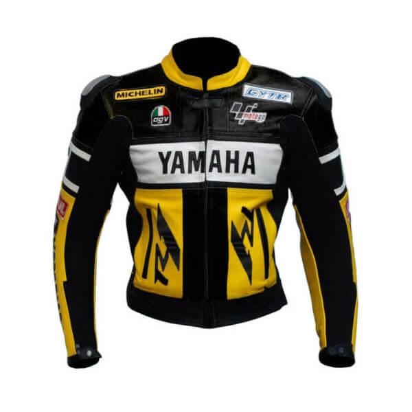 Yamaha Motorcycle Racing Sports Leather Jacket