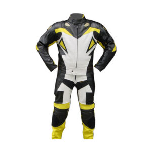 Yellow Madrid Motorcycle Leather Racing Suit